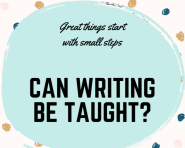 Can writing be taught