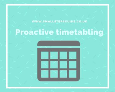 Proactive timetabling