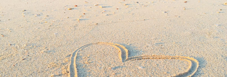 Heart on beach photo by khadeeja-yasser-485476-unsplash